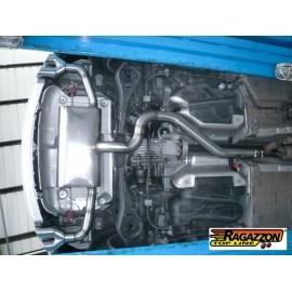 Silencieux arrière duplex en inox 2 sorties 80mm AUDI TT QUATTRO 2.0TFSI (147KW) 2006 - 2014