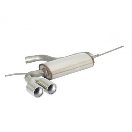 Silencieux arrière en inox 2 sorties 80mm SKODA YETI 1.4TSI (90KW) 2011 - AUJOURD'HUI