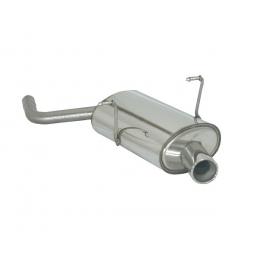 Silencieux arrière en inox 1 sortie 80mm MINI R50 ONE 1.6 I (66KW) + RESTYLING 09/2001 - 10/2006