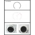 Protection en inox sortie ronde 70 mm ronde ouverte