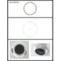 Protection en inox sortie ronde 80 mm ronde fermée