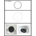 Protection en inox sortie ronde 90 mm ronde fermée