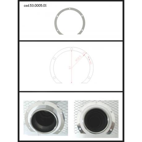 Protection en inox sortie ronde 80 mm ronde ouverte