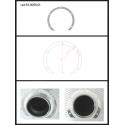 Protection en inox sortie ronde 90 mm ronde ouverte