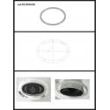 Protection en inox sortie ovale 115x70 mm ovale fermée Ragazzon