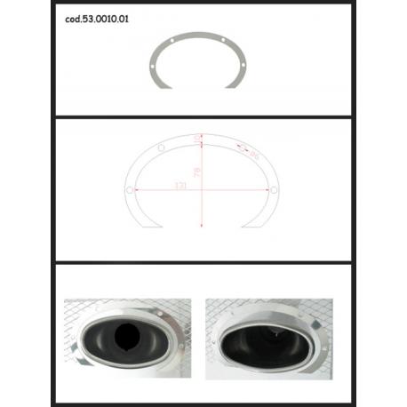 Protection en inox sortie ovale 115x70 mm ovale ouverte Ragazzon