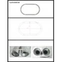 Protection en inox sortie ronde 2X70 mm ovale fermée Ragazzon