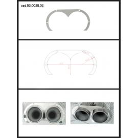 Protection en inox sortie ronde 2X70 mm ovale ouverte