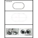 Protection en inox sortie ronde 2X80 mm ovale fermée Ragazzon
