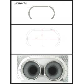 Protection en inox sortie ronde 2X80 mm ovale ouverte Ragazzon