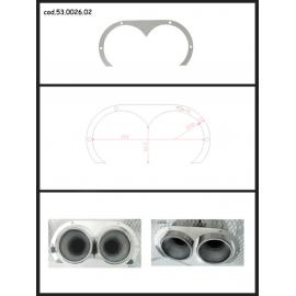 Protection en inox sortie ronde 2X80 mm ovale ouverte