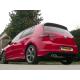 Échappement arrière Volkswagen Golf VII 1.6TDI (77KW) 2012 - 2014 inox avec 2 sorties rondes 80 mm décalées