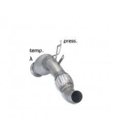 Catalyseur groupe n + tube remplacement FAP en inox BMW X5 E70 30DX (180KW) 2010 - 2013