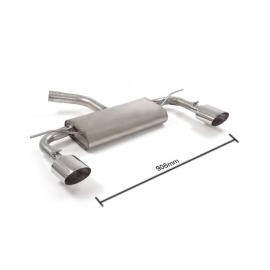 Silencieux arrière duplex Seat Leon III (5F) 1.6TDI (77KW) 2013 - Aujourd'hui sortie ovale Sport Line 135x90 mm