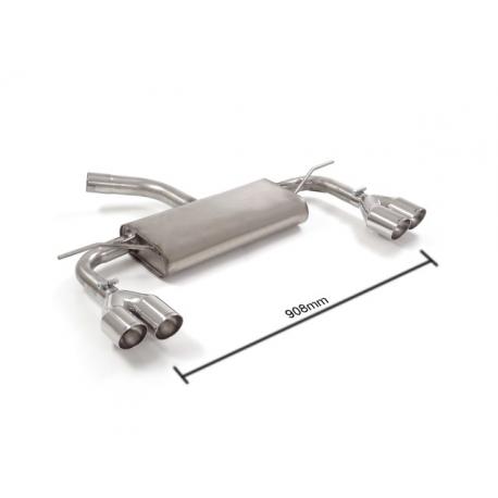 Silencieux arrière duplex en inox Volkswagen Golf 7 (VII) 1.6TDI (77KW) 2012 - 2014