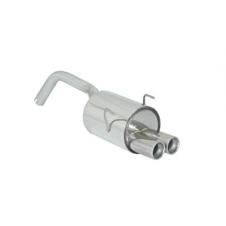 Silencieux arrière en inox 1 sortie Ovale 115mm FORD KA 1.2 (51KW) 01/2009 - 2015